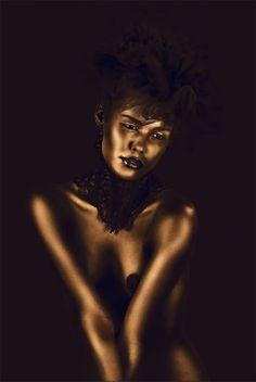 Gold Body Paint - Gold Rush - Gold Inspiration Board #luxurystylist www.twitter.com/luluamin