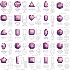 Image result for gemstone cuts chart