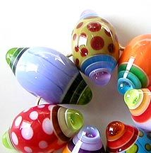 Z-Beads 2005 Gallery featuring handmade lampworks beads by Sarah Moran...