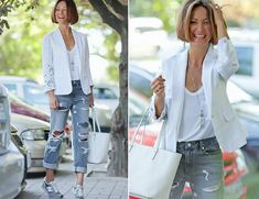 Only Style that matters Denim Fashion, Trendy Fashion, Girl Fashion, Fashion Looks, Fashion Outfits, Womens Fashion, Grey Ripped Jeans, Spring Summer Fashion, Autumn Fashion