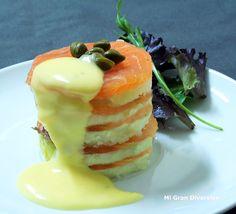 Mi Gran Diversión: Timbal de salmón con salsa holandesa