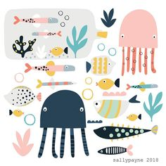 Illustration and surface pattern Simple Illustration, Abstract Illustration, Illustration Mignonne, Pattern Illustration, Children's Book Illustration, Illustration Children, Cute Animal Illustration, Book Illustrations, Art Wall Kids