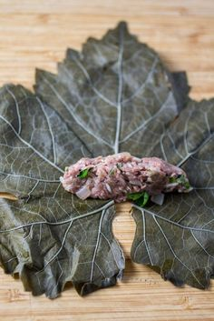 Easy recipe for Meat & Rice Stuffed Grape Leaves, a Mediterranean classic. Armenian Recipes, Lebanese Recipes, Turkish Recipes, Greek Recipes, Lebanese Cuisine, Jewish Recipes, Lamb Recipes, Veggie Recipes, Cooking Recipes