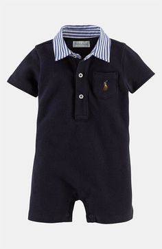 Ralph Lauren Romper (Infant) available at Outfits Niños, Kids Outfits, Summer Outfits, Toddler Outfits, Baby Boy Outfits, Baby Boy Fashion, Kids Fashion, Baby Boy Swag, Ralph Lauren Kids