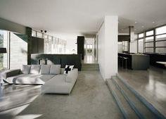 beautifully polished concrete floors [Catskill Mountain House]
