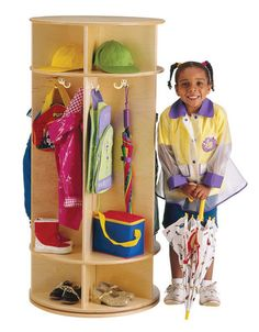 REVOLVING COAT LOCKER - 5 SECTIONS | Honor Roll Childcare Supply - Early Education Furniture, Equipment and School Supplies.