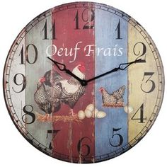 Oeuf Round Oversized Wall Clock