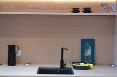 As seen on ITV show Love Your Home and Garden is the Matrix sink and New Media tap in matt black. Sink Taps, Sinks, Bathroom Trends 2018, Itv Shows, Latest Colour, Love Your Home, New Media, Granite, Monochrome