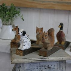 1Pcs Handmade animal sculpture door stopper gift wood carving sculpture $30.96