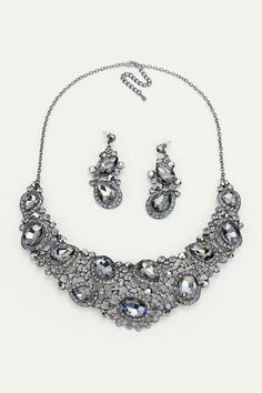 Crystal Marie Anne Necklace in Black Diamond