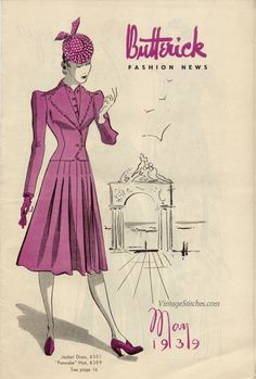 https://flic.kr/p/hgiKTc | May 1939 Butterick Fashion News | From the collection of Jessica H. Jaeger.