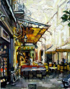 Cafe La Nuit by Rick Reinert