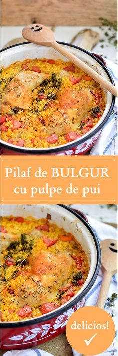 Romanian Food, Cheeseburger Chowder, Bacon, Food And Drink, Cooking, Ethnic Recipes, Diet, Bulgur, Recipies