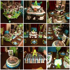 Brown and green baby shower theme (w/ monkey)