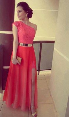 Modest Prom Dress,Chiffon Prom Dress ,Long Prom Dresses,Evening Dress,One shoulder Evening Dresses Backless Prom Dresses, Sexy Dresses, Beautiful Dresses, Formal Dresses, Dress Prom, Dress Long, Prom Dreses, Dresses 2016, Prom Gowns