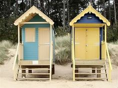 Tiny Seaside Beach Huts by James Ward Seaside Beach, Beach Cabana, Beach Huts For Sale, Beach Hut Interior, Tiny Little Houses, Tiny Houses, Uk Beaches, Small Buildings, Beach Shack