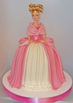 Image result for confection and decor of cakes with barbie dolls on it