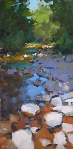 Good example of warm cool colors - Carol Marine's Painting a Day