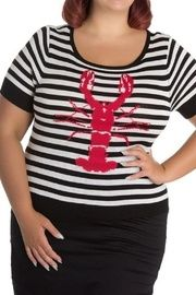b8d292b08121 Hell Bunny Striped Lobster Top
