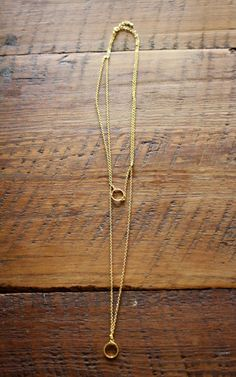 November Stitch Fix Review: Bay to Baubles Ohara Double Layer Circle Charm Necklace #stitchfix