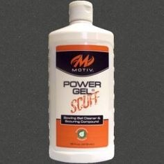 MOTIV Power Gel Scuff by MOTIV Bowling Products. $10.95. Power Gel® Scuff is a ball cleaner and scouring compound in one formulation. Just as Power Gel® Clean, the Scuff formula removes marks, dirt, lane oil, and grime. In addition, Power Gel® Scuff will remove minor surface scratches. When used on bowling balls with a polished finish, Power Gel® Scuff will increase surface friction and improve hooking power. A unique benefit of Power Gel® Scuff is that the scouring compound...