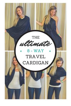 I love when I get an opportunity to share my favorite products and experiences with my readers, so I'm thrilled to be giving away my favorite travel cardigan by enCircled! Their Chrysalis Cardi is by far the best travel