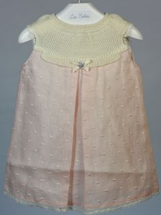 Vestido plumeti lino rosa Paz Rodriguez - Ropa de bebés - Les bébés