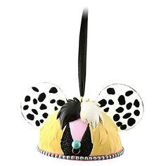 Limited Edition Cruella De Vil Ear Hat Ornament