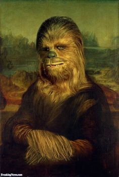Mona Lisa Funny Pics and the Power of Mona Lisa Parodies Star Wars Fan Art, Star Wars Meme, Star Wars Witze, Star Wars Film, Star Wars Poster, Chewbacca, Art Visionnaire, Star Wars Painting, Mona Lisa Parody