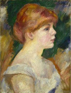 Pierre-Auguste Renoir - Suzanne Valadon, c. 1885 #arte