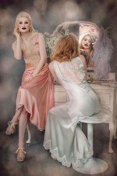 Joanne Fleming Design: Femmes Fatale and French Fancies. Satin Nightie, Silk Chemise, Satin Lingerie, Pretty Lingerie, Vintage Lingerie, Lingerie Sleepwear, Beautiful Lingerie, Nightwear, French Fancies