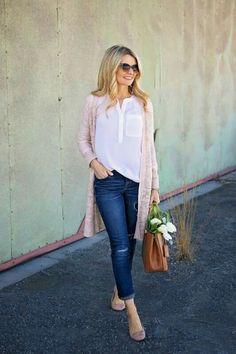 Super cute long pink sweater