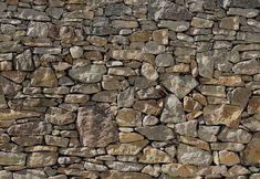 """Fototapeten 8NW-727 """"Stone Wall"""" - Sonnige, natürliche Steinwand für mediterranes Wohngefühl"""