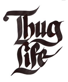 Thug Life, reminds of the group Thug Life with Tupac Thug Life Tattoo, Life Tattoos, 2pac Tattoos, Evil Tattoos, Arte Do Hip Hop, Hip Hop Art, Graffiti Drawing, Graffiti Lettering, Chicano Lettering