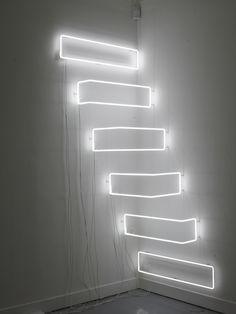 "Nathaniel Rackowe ""NLP2"", 2007 mixed media, neon 100 x 100 x 200 cm"