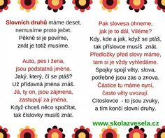 Slovni druhy - báseň