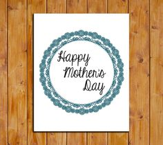 Mother's Day Printable Art Print Mother's by ScubamouseStudiosJr, $5.00