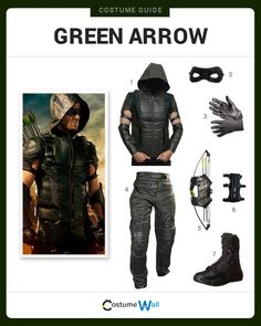 Dress Like Stephen Amell's version of the Green Arrow from the hit TV series. See additional costumes and cosplays of the Green Arrow.