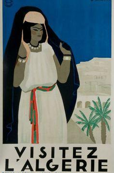 #Affiche #Algérie. Vintage #Poster #Algeria. Poster #Algerien