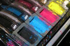 A modern color printer.