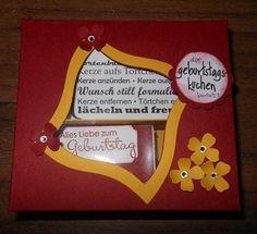 Geburtstagskuchenbausatz in rot_1 Simple Sentences, Candles, Packaging, Birth, Red, Craft