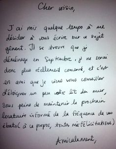Chers voisins : le plus fin Funny Letters, Funny Quotes, Life Quotes, Happy Fun, Learn French, Haha, Funny Pictures, Jokes, Language