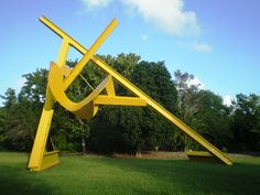 Yellow Steel Sculpture by Mark di Suvero via flickriver