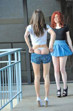 upskirt nice ass panties sexy legs high heels
