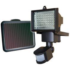 Refletor 60 LEDs por Energia Solar com Sensor de Movimento - Ecoforce -Casa e Segurança - Luminárias Solares - Walmart.com