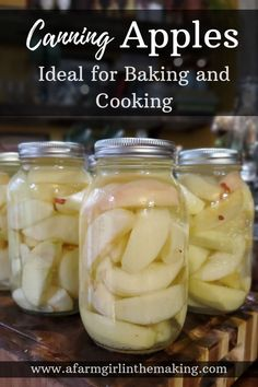 Canning Apples – Ideal for Baking and Cooking Canning apples is a great method to use in preserving the apple harvest. This is apple canning recipe is ideal when baking with apples is desired. Simple open a jar and use with your favorite apple recipes. Apple Recipes For Canning, Pressure Canning Recipes, Canning Apples, Easy Canning, Canning Vegetables, Apple Recipes Easy, Canning Tips, Pressure Cooking, Canning Kitchen Ideas
