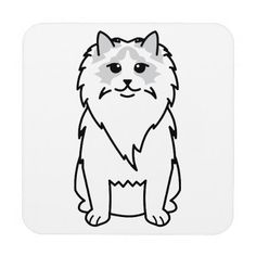 Ragdoll Cat Cartoon Coaster