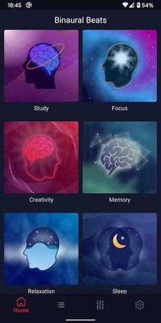 تطبيق الموجات الدماغية وموسيقي المذاكرة والتأمل Binaural beats مهكر للاندرويد احدث اصدار 1.0.15 [العضوية البريميوم مفتوحة] Binaural Beats, Pandora, Apps, App, Appliques