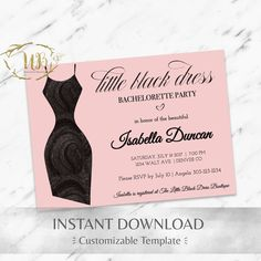 Bachelorette Party Invitation Template  Bachelorette Itinerary