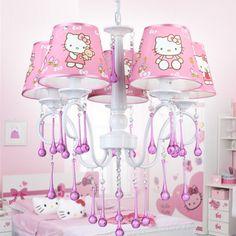 Cute Hello Kitty Pendant Lamp Led Pink Cartoon Pendant Lamp Mordern Lighting Children Bedroom Hanging Lamp Lovely Lighting Lights & Lighting Pendant Lights